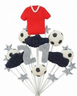 Football 21st birthday cake topper decoration red shirt - free postage